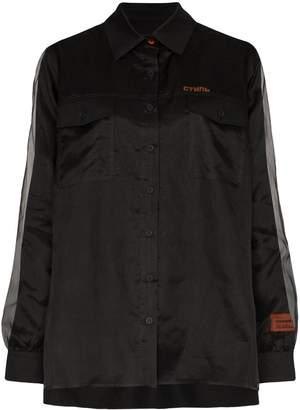 Heron Preston double-layer silk shirt
