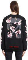 Off-White Off White Cherry Blossom Cotton Jersey Sweatshirt