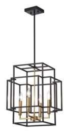 "Home Accessories Hartwell 15"" 4-Light Indoor Pendant Lamp with Light Kit"