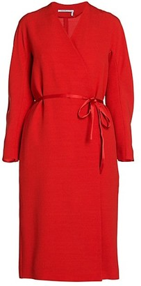 Agnona Wool Crepe Wrap Dress