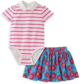 Kate Spade Girls' Jess Striped Bodysuit & Skirt Set
