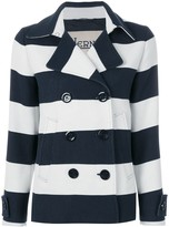 Herno striped double breasted jacket
