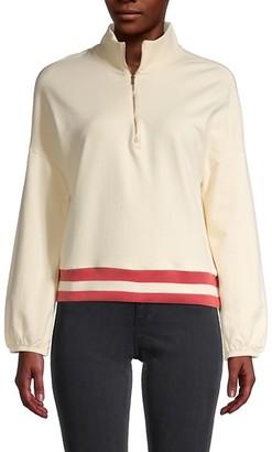Monrow Half-Zip Pullover Top