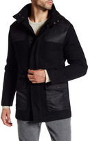Kenneth Cole New York Long Coat with Detachable Hood