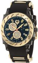 Brillier Men's 01.1.2.1.11.6 Chronograph Method Air Black IP Gold-Tone Rubber Watch