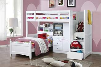 Camilla And Marc Children's Furniture Company Neutron High Sleeper Bed, Rubberwood, White, 253 x 100 x 185 cm