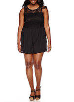 LOVE REIGNS Love Reigns Sleeveless Lace-Top Romper