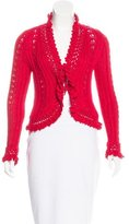 Chanel Crochet V-Neck Cardigan
