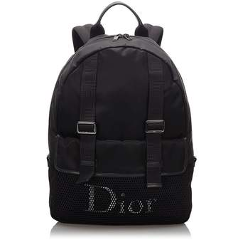 Christian Dior Pre-Loved Black Nylon Fabric Playground Backpack ITALY