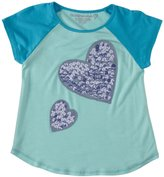 Design History Sequins Heart Top (Toddler/Kid) - Pale Aqua-3T
