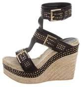 Alexander McQueen Stud Embellished Wedge Sandals