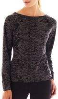 JCPenney Xersion Burnout Back-Zip Sweatshirt - Tall