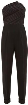 Roland Mouret Haye Chevron-bodice Crepe Jumpsuit - Black