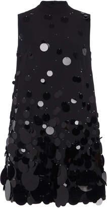 Prada Embellished Crepe Mini Dress