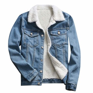 Rikay Women Coat Rikay Oversized Denim Jacket for Womens Girls Long Sleeve Loose Coats Boyfriend Jean Jackets Outwear Clothes Size 10-20 Blue