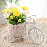XHOPOS HOME-Fake flowers XHOPOS HOME Artificial Flowers Creative Flower Baskets Yellow White Rose Decorative Fake Flowers For Bridal Bouquet Home Party And House Decor Garden Decor