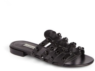 Balenciaga Women's Studded Slip-On Sandal