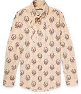 Gucci Slim-Fit Penny-Collar Printed Silk-Crepe Shirt