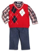 Hartstrings Baby's Argyle Cotton Sweater Vest