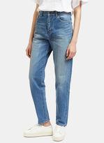 Saint Laurent Women's Straight Leg Jeans in Blue