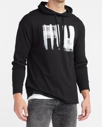Express Brushstroke Plaid Graphic Hoodie