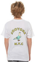 Zoo York New Boys Kids Boys Gutter Tee Crew Neck Short Sleeve Cotton White