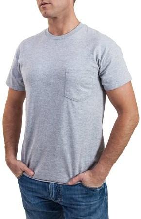 Gildan Men's Black and Grey Pocket Crew T-Shirt, 2-Pack