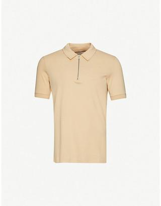 Prevu Zipped cotton polo shirt