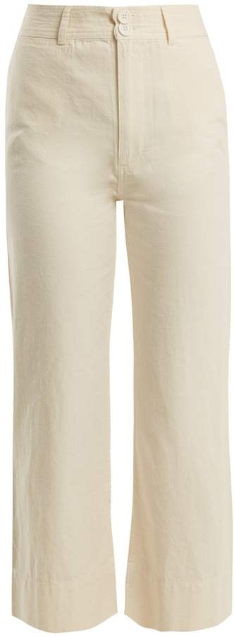 Apiece Apart Merida wide-leg cotton trousers