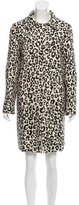 Chloé Wool & Silk-Blend Leopard Printed Coat