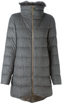 Herno padded coat - women - Silk/Feather Down/Fox Fur/Cashmere - 40