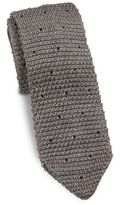 hook + ALBERT Knit Polka Dotted Silk Tie