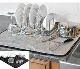 "The OriginalTM Dish Drying Mat XL Microfiber, Absorbent, Machine Washable, Fast Drying 18""X24"" DUAL SURFACE (BLACK)"