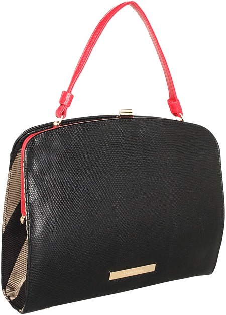 Ivanka Trump Julia Framed Top Handle (Black) - Bags and Luggage