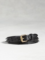 John Varvatos Artisan Stitched Strip Belt
