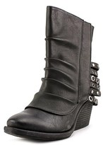 Two Lips Tinker Women Round Toe Synthetic Black Ankle Boot.