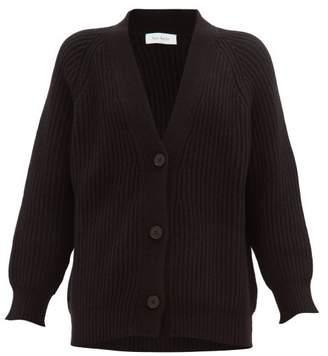 Roche Ryan V-neck Ribbed Cashmere Cardigan - Womens - Black