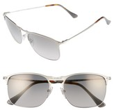Persol Men's Evolution 58Mm Polarized Aviator Sunglasses - Silver