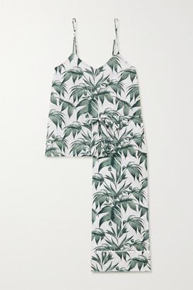 Desmond & Dempsey Cotswolds Printed Cotton Pajama Set - White