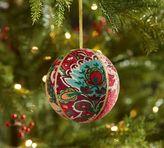 Pottery Barn Darcy Printed Velvet Ball Ornament