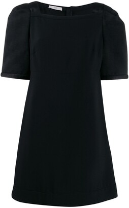 Prada Pre Owned Oversized Sleeves Short Dress