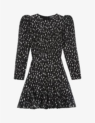 The Kooples Graphic-print crepe mini dress