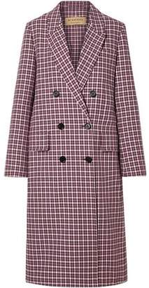 Burberry Double-breasted Checked Cotton-blend Coat