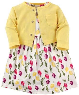Luvable Friends Cardigan and Dress Set,0-24 Months