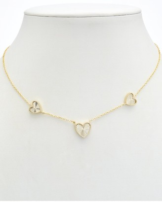 Alanna Bess Limited Collection 14K Over Silver Three Heart Necklace