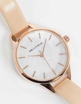 Bellfield rose gold tone watch