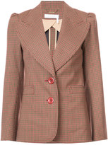 Chloé micro checked blazer - women - Silk/Cotton/Polyester/Wool - 36