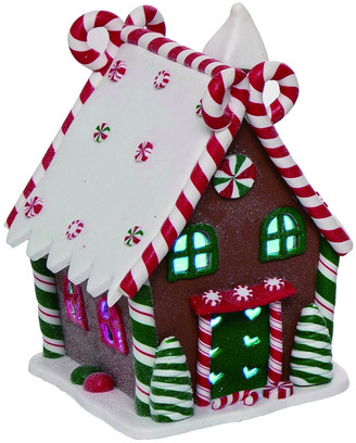 Transpac Set Of 4 Plastic Red Christmas Light Up Gingerbread Houses