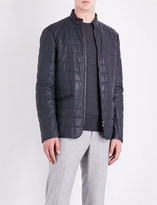Armani Collezioni Quilted leather jacket