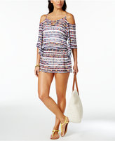 Becca Artisan Off-The-Shoulder Tunic Cover-Up Women's Swimsuit